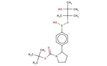 TERT-BUTYL 2-(4-(HYDROXY((3-HYDROXY-2,3-DIMETHYLBUTAN-2-YL)OXY)BORYL)PHENYL)PYRROLIDINE-1-CARBOXYLATE
