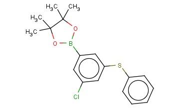 2-(3-CHLORO-5-(PHENYLTHIO)PHENYL)-4,4,5,5-TETRAMETHYL-1,3,2-DIOXABOROLANE