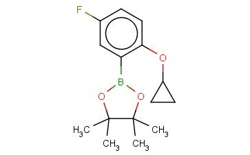 2-(2-CYCLOPROPOXY-5-FLUOROPHENYL)-4,4,5,5-TETRAMETHYL-1,3,2-DIOXABOROLANE