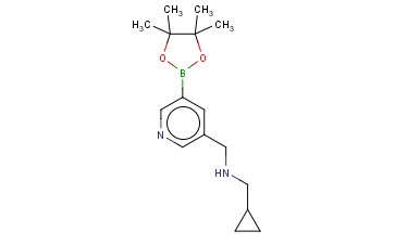 3-PYRIDINEMETHANAMINE, N-(CYCLOPROPYLMETHYL)-5-(4,4,5,5-TETRAMETHYL-1,3,2-DIOXABOROLAN-2-YL)-