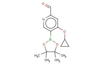 4-CYCLOPROPOXY-5-(4,4,5,5-TETRAMETHYL-1,3,2-DIOXABOROLAN-2-YL)PICOLINALDEHYDE