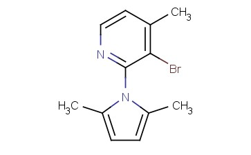 3-BROMO-2-(<span class='lighter'>2,5-DIMETHYL-1H-PYRROL-1-YL</span>)-4-METHYLPYRIDINE