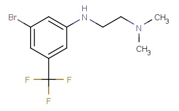 N1-(3-BROMO-5-(TRIFLUOROMETHYL)PHENYL)-<span class='lighter'>N2</span>,N2-DIMETHYLETHANE-<span class='lighter'>1,2-DIAMINE</span>