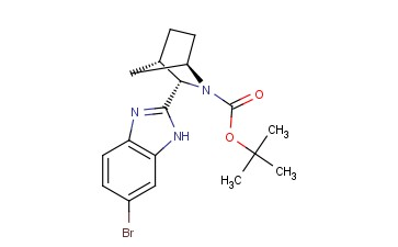 (1R,3S,4S)-3-(6-Bromo-1Hbenzimidazol-2-yl)-2-azabicyclo[2,2,1]<span class='lighter'>heptane</span>--2-carboxylic acid-1,1-dimethylethylester