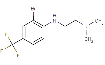 N1-(2-BROMO-4-(TRIFLUOROMETHYL)PHENYL)-<span class='lighter'>N2</span>,N2-DIMETHYLETHANE-<span class='lighter'>1,2-DIAMINE</span>