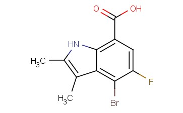 4-BROMO-5-FLUORO-<span class='lighter'>2,3-DIMETHYL-1H-INDOLE</span>-7-CARBOXYLIC ACID