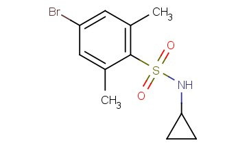 4-BROMO-N-CYCLOPROPYL-2,6-<span class='lighter'>DIMETHYLBENZENESULFONAMIDE</span>
