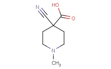 4-cyano-1-methyl-4-Piperidinecarboxylic acid