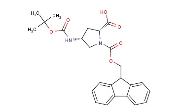 (4R)-4-(Boc-amino)-1-Fmoc-D-proline