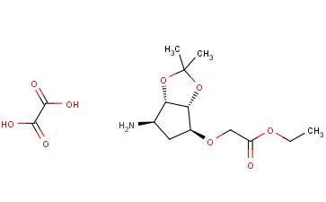 Ethyl 2-(((3aR,4S,6R,6aS)-6-amino-2,2-dimethyltetrahydro-3aH-cyclopenta[d][1,3]dioxol-4-yl)oxy)acetate oxalate