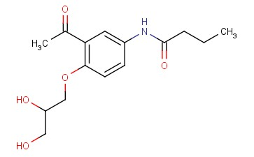 N-[3-Acetyl-4-[(2RS)-2,3-dihydroxypropoxy] phenyl]butanamide