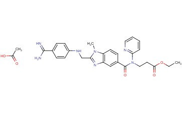 Ethyl 3-(2-(((4-carbamimidoylphenyl)amino)methyl)-1-methyl-N-(pyridin-2-yl)-1H-benzo[d]imidazole-5-carboxamido)propanoate acetate