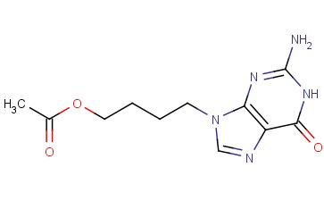 9-(4-acetoxybut-1-yl)guanine