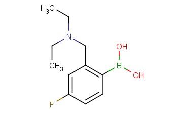 2-((diethylamino)methyl)-4-fluorophenylboronic acid