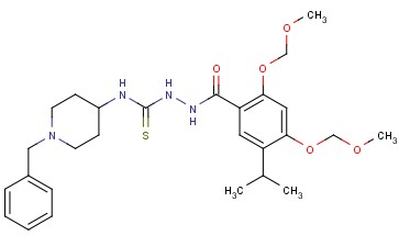 4-(1-benzyl-piperidin-4-yl)-1-(5-isopropyl-2,4-bismethoxymethoxy-benzoyl) thiosemicarbazide