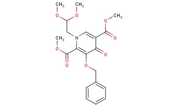Dimethyl 3-(benzyloxy)-1-(2,2-dimethoxyethyl)-4-oxo-1,4-dihydropyridine-2,5-dicarboxylate