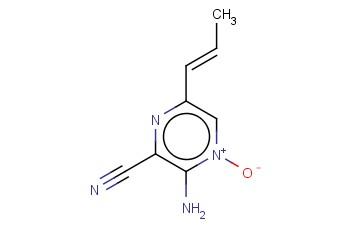 PYRAZINECARBONITRILE, 3-AMINO-6-(1-PROPENYL)-, 4-OXIDE, (E)-