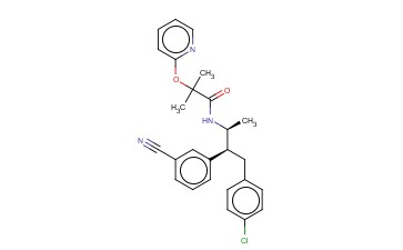 N-((2S,3S)-4-(4-CHLOROPHENYL)-3-(3-CYANOPHENYL)BUTAN-2-<span class='lighter'>YL</span>)-2-METHYL-2-(PYRIDIN-2-YLOXY)<span class='lighter'>PROPANAMIDE</span>