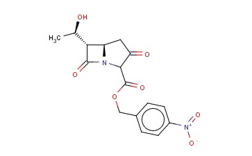 P-NITROBENZYL-6-(1-HYDROXYETHYL)-1-AZABICYCLO(3.2.0)HEPTANE-3,7-DIONE-2-CARBOXYLATE