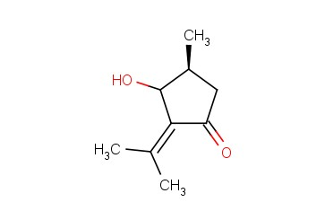 CYCLOPENTANONE, 3-HYDROXY-4-METHYL-2-(1-METHYLETHYLIDENE)-, (4S)-