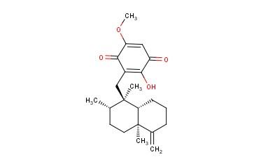 3-[(十氢-1β,2β,4aβ-三甲基-5-亚甲基-1-萘基)甲基]-2-羟基-5-甲氧基苯醌