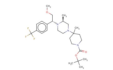TERT-BUTYL 4-((S)-4-((R)-2-METHOXY-1-(4-(TRIFLUOROMETHYL)PHENYL)ETHYL)-3-METHYLPIPERAZIN-1-YL)-4-METHYLPIPERIDINE-1-CARBOXYLATE