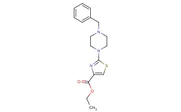 4-<span class='lighter'>THIAZOLECARBOXYLIC</span> ACID, 2-[4-(PHENYLMETHYL)-1-PIPERAZINYL]-, ETHYL <span class='lighter'>ESTER</span>