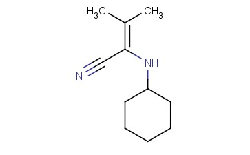 2-(CYCLOHEXYLAMINO)-3-METHYL-2-BUTENENITRILE