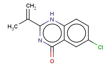 4(3H)-QUINAZOLINONE, 6-CHLORO-2-(1-METHYLETHENYL)-