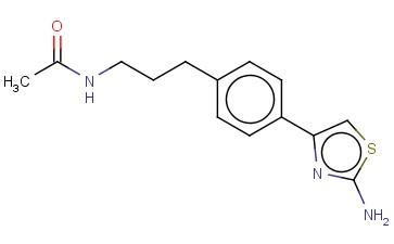 N-(3-[4-(2-AMINO-1,3-THIAZOL-4-YL)PHENYL]PROPYL)ACETAMIDE