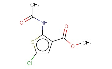 METHYL 2-(ACETYLAMINO)-5-CHLORO-3-THIOPHENECARBOXYLATE