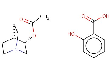 (4S)-QUINUCLIDIN-3-YL ACETATE 2-HYDROXYBENZOATE