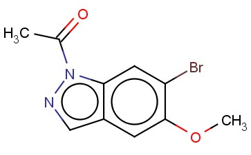 1-ACETYL-5-METHOXY-6-BROMO-1H-INDAZOLE