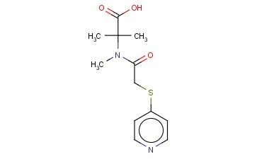 2-METHYL-2-[N-METHYL-2-(PYRIDIN-4-YLSULFANYL)ACETAMIDO]PROPANOIC ACID