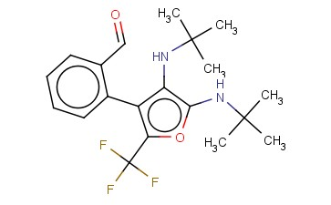 METHANONE, [4,5-BIS[(1,1-DIMETHYLETHYL)AMINO]-2-(TRIFLUOROMETHYL)-3-FURANYL]PHENYL-