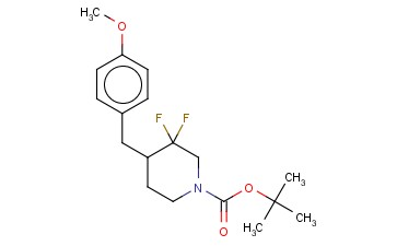 TERT-BUTYL 3,3-DIFLUORO-4-(4-METHOXYBENZYL)PIPERIDINE-1-CARBOXYLATE