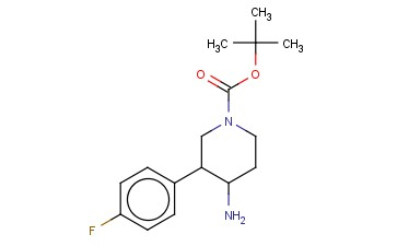 TERT-BUTYL 4-AMINO-3-(4-FLUOROPHENYL)PIPERIDINE-1-CARBOXYLATE