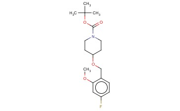TERT-BUTYL 4-[(4-FLUORO-2-METHOXYBENZYL)OXY]PIPERIDINE-1-CARBOXYLATE