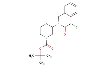 TERT-BUTYL 3-(N-BENZYL-2-CHLOROACETAMIDO) PIPERIDINE-1-CARBOXYLATE