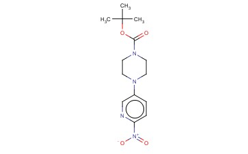 TERT-BUTYL 4-(6-<span class='lighter'>NITRO</span>-3-PYRIDYL)PIPERAZINE-1-CARBOXYLATE
