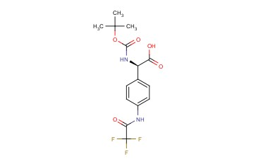 Benzeneacetic acid, alpha-[[(1,1-dimethylethoxy)carbonyl]amino]-4-[(trifluoroacetyl)amino]-, (R)-
