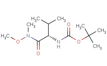 (S)-<span class='lighter'>TERT</span>-BUTYL 1-(METHOXY(METHYL)AMINO)-3-METHYL-1-OXOBUTAN-2-YLCARBAMATE