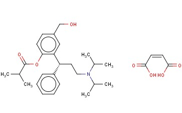 (E)-but-2-enedioic acid,[2-[(1R)-3-[di(propan-2-yl)amino]-1-phenylpropyl]-4-(hydroxymethyl)phenyl] 2-methylpropanoate;Fesoterodine Fumarate