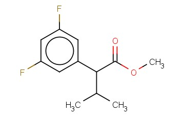 3,5-DIFLUORO-ALPHA-(1-METHYLETHYL)-BENZENEACETIC ACID, METHYL ESTER