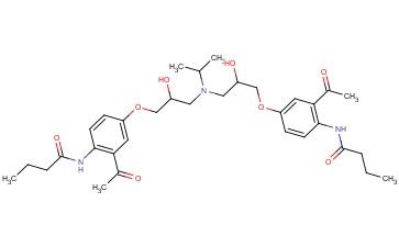 N,N′-[[(1-Methylethyl)imino]bis[(2-hydroxypropane-1,3-diyl)oxy(3-acetyl-1,4-phenylene)]]dibutanamide