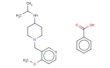 N-ISOPROPYL-1-((4-METHOXYPYRIDIN-3-YL)METHYL)PIPERIDIN-4-AMINIUM BENZOATE