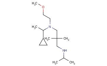 (3-[(1-CYCLOPROPYLETHYL)(2-METHOXYETHYL)AMINO]-2,2-DIMETHYLPROPYL)(PROPAN-2-YL)AMINE