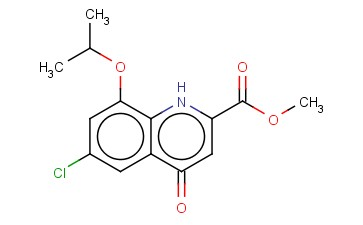 METHYL 6-CHLORO-4-OXO-8-(PROPAN-2-YLOXY)-1,4-DIHYDROQUINOLINE-2-CARBOXYLATE