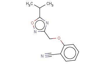 2-([5-(PROPAN-2-YL)-1,2,4-OXADIAZOL-3-YL]METHOXY)BENZONITRILE
