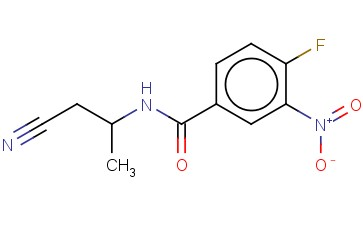 N-(1-CYANOPROPAN-2-YL)-4-FLUORO-3-NITROBENZAMIDE